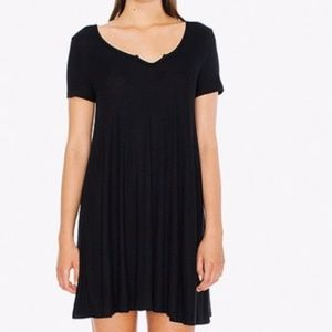 American Apparel Ribbed Knit T Shirt Dress